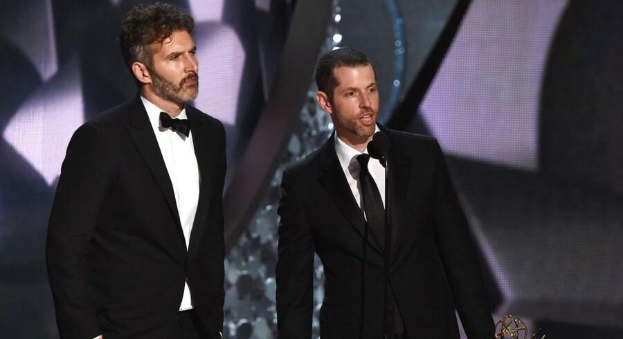 """»Vi er beærede over muligheden og lidt skræmte over ansvaret, men vi er også spændte over at komme i gang, så snart den sidste sæson af """"Game of Thrones"""" er færdig«, skriver David Benioff og D.B. Weiss."""