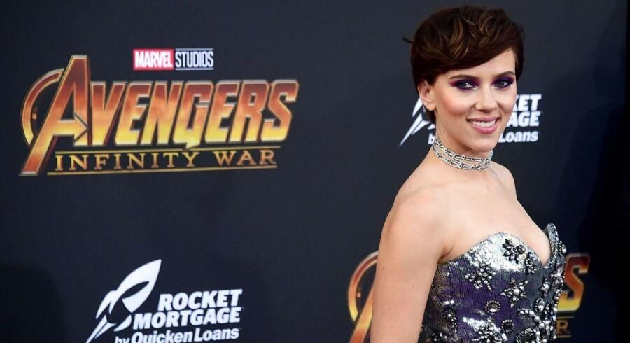 Skuespillerinden Scarlett Johansson til premieren på 'Avengers: Infinity War'.