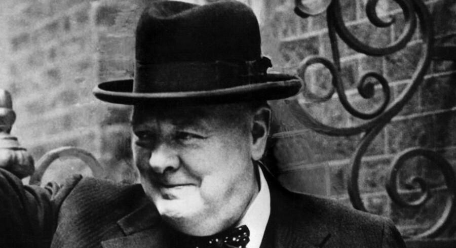 Som premierminister under Anden Verdenskrig holdt Winston Churchill briternes moral op. Aldrig tvivlede han på sejren over nazisterne. Foto: AFP Photo