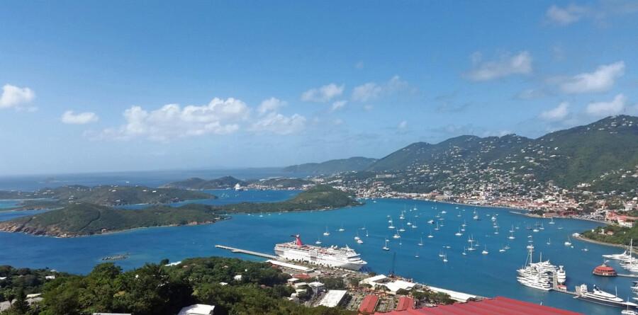 Udsigt over havnen i Charlotte Amalie på St. Thomas. Foto: Foto: Scanpix