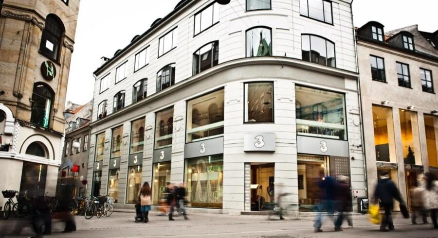 »3« og lavprisselskabet Oister fortsætter med at vinde mobilkunder i Danmark og har nu 1.212.000. Arkivfoto: »3«