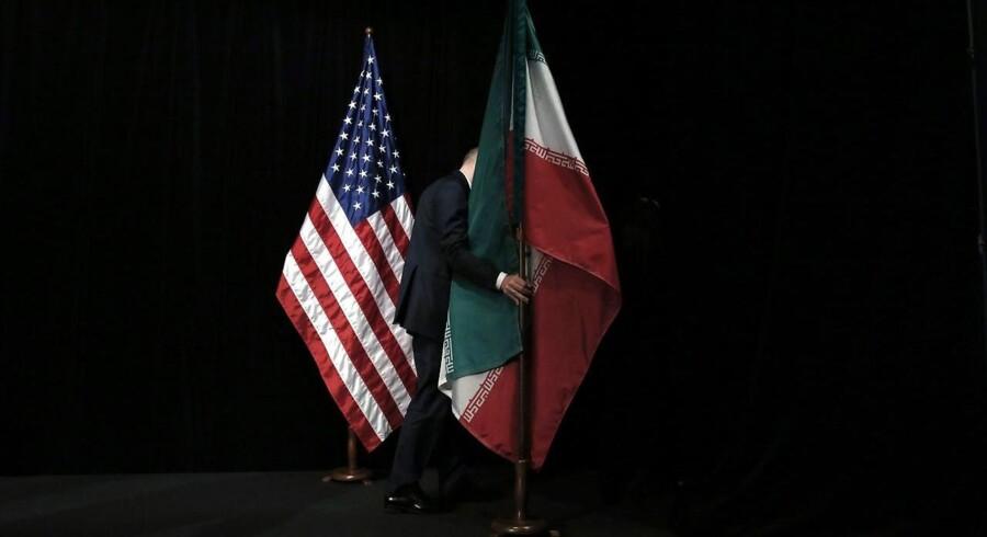Billede fra et udenrigsministermøde sidste år. Nu har iranerne lavet en Hollywood-ligenende produktion, og skurken er ingen ringere end USA.
