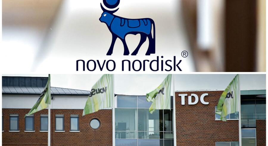 18.000 Novo Nordisk-ansattes internet- og mobilabonnementer overflyttes inden nytår fra TDC til Telenor. Arkivfotos: Scanpix