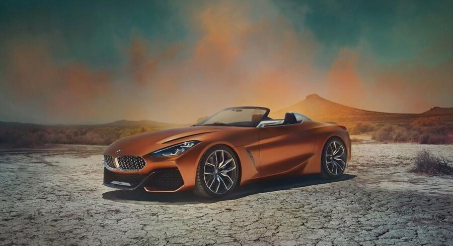 Den nye konceptbil udvikler sig i 2018 til en ny Z4 roadster - og forhåbentlig holder BMW fast i de former, vi ser her