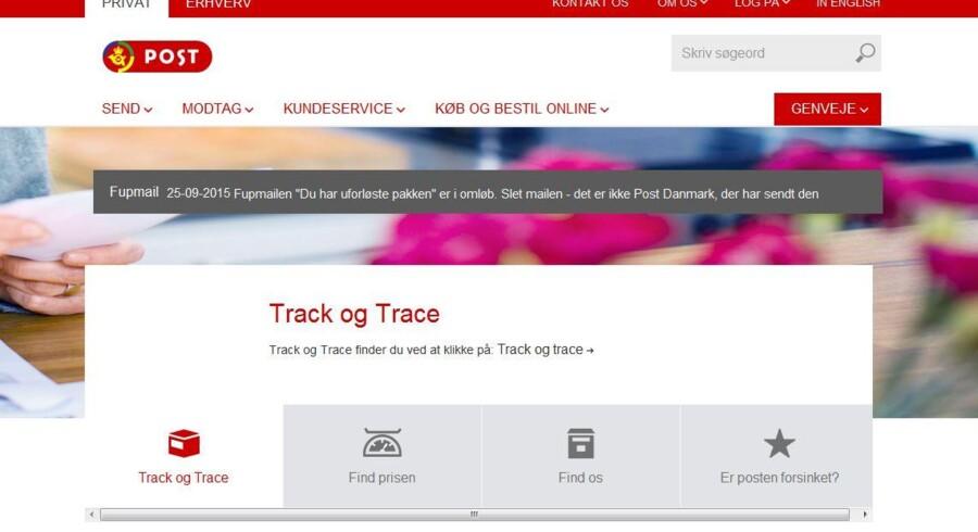 PostDanmark advarer på sin forside mod den falske besked, som mange danskere har modtaget, og som rummer en farlig virus.