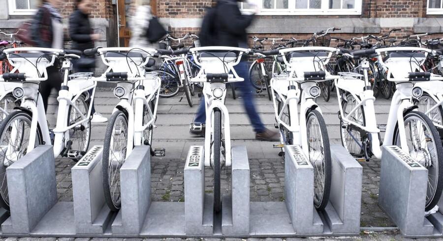 Firmaet bag de hvide, københavnske bycykler går nu konkurs. Det skriver Berlingske Business. (Foto: Jeppe Vejlø/Scanpix 2017)