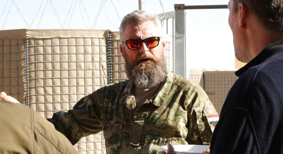 Statsminister Lars Løkke Rasmussen besøger det danske bidrag i Camp Havoc i Irak d. 11. december 2016. Her er det Rasmus Amstrup // Forsvarets foto