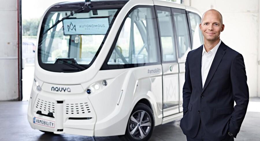 »Jeg prøver at finde nogle folk, som på en eller anden måde har demonstreret, eller som jeg har en fornemmelse af, kan rumme alle de forandringer og alle de nye teknologier, vi går og arbejder med.«, Peter Sorgenfrey, administrerende direktør i »Autonomous Mobility«.
