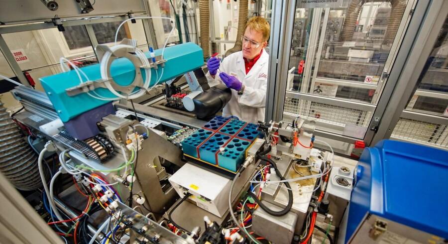 Arkivfoto. Den amerikanske medicinalgigant Eli Lilly, der er konkurrent til Novo Nordisk, er kommet stærkere end ventet ud af andet kvartal, og forventningerne til årets indtjening bliver opjusteret en anelse.
