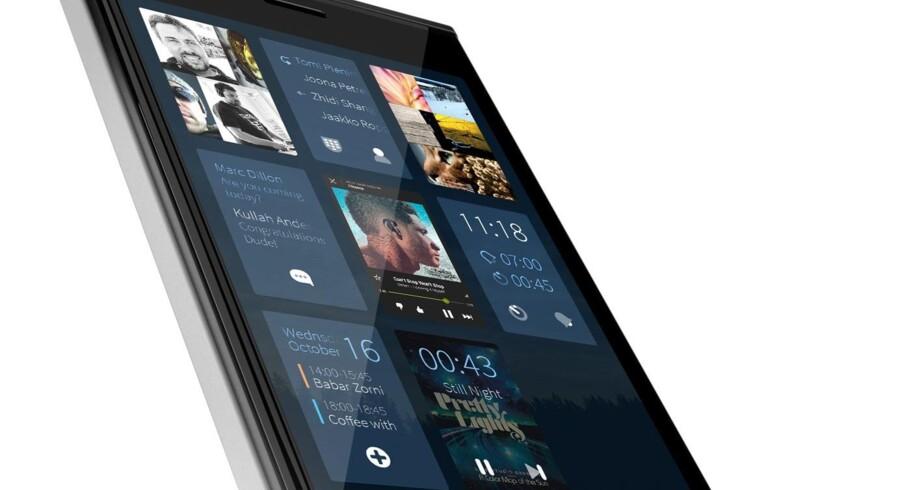 Den finske mobilproducent Jolla, grundlagt af tidligere Nokia-folk, drøfter nu samarbejde med de russiske myndigheder, som vil af med Android og iOS. Foto: Jolla