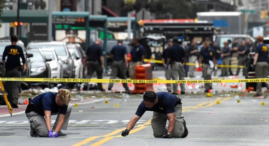29 mennesker blev såret, heraf en alvorligt, ved eksplosionen i Chelsea på den sydlige del af Manhattan.