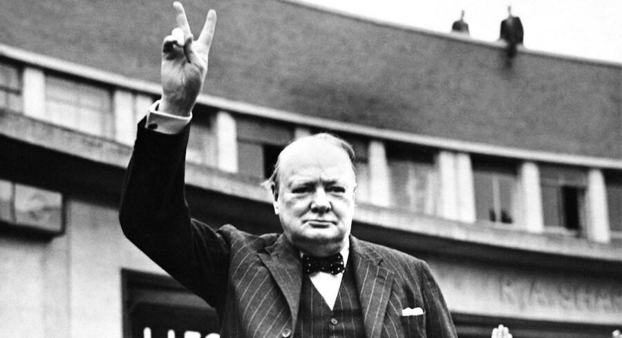 Ny biografi om Winston Churchill viser, at mange politikere spejler sig i statsmanden, der døde for 50 år siden. Foto: AFP