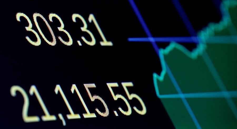 Arkivfoto: De amerikanske aktier kom under pres mandag, hvor blandt andet bankaktierne var på tilbagetog på grund af en stigende tvivl om, hvorvidt politikerne i Washington vil være i stand til at vedtage de lovede lovgivningsmæssige lettelser for sektoren inden for en overskuelig fremtid.