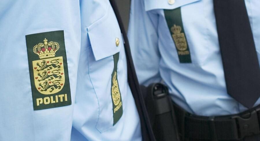 En patrulje fra Midt- og Vestjyllands Politi fik hjælp af bankdirektører efter et røveri onsdag i Ringkøbing (arkivfoto). Free/Politiet