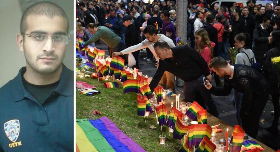 Den formodede gerningsmand Omar Mateen skød 49 mennesker og sårede 53, da en masse homoseksuelle var samlet for at feste og danse diskotektet »Pulse« i Orlando.