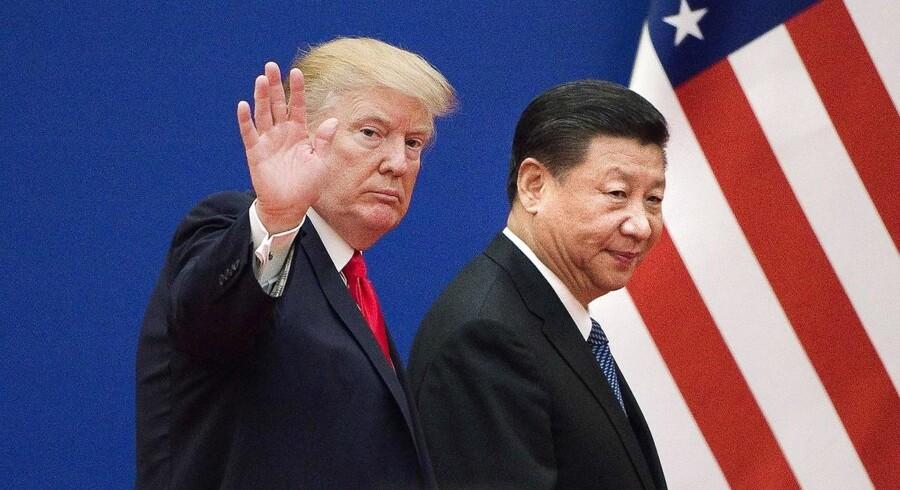 Det danske obligationsmarked ventes mandag at åbne med beherskede rentestigninger, hvilket i givet fald vil være modsat udviklingen fredag, hvor en skærpet retorik i handelskrigen mellem USA og Kina førte til både aktie- og rentefald. (Foto: NICOLAS ASFOURI/Ritzau Scanpix)