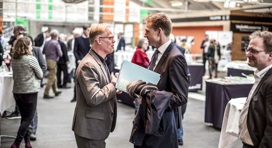 Kristian Thulesen Dahl (DF) og Carl Holst (V) under Landdistrikternes Fællesråds årsmøde i Vejle fredag d. 16. marts 2018 under Landdistrikternes Fællesråds årsmøde i Vejle fredag d. 16. marts 2018. (Foto: Michael Drost-Hansen/Scanpix 2018)