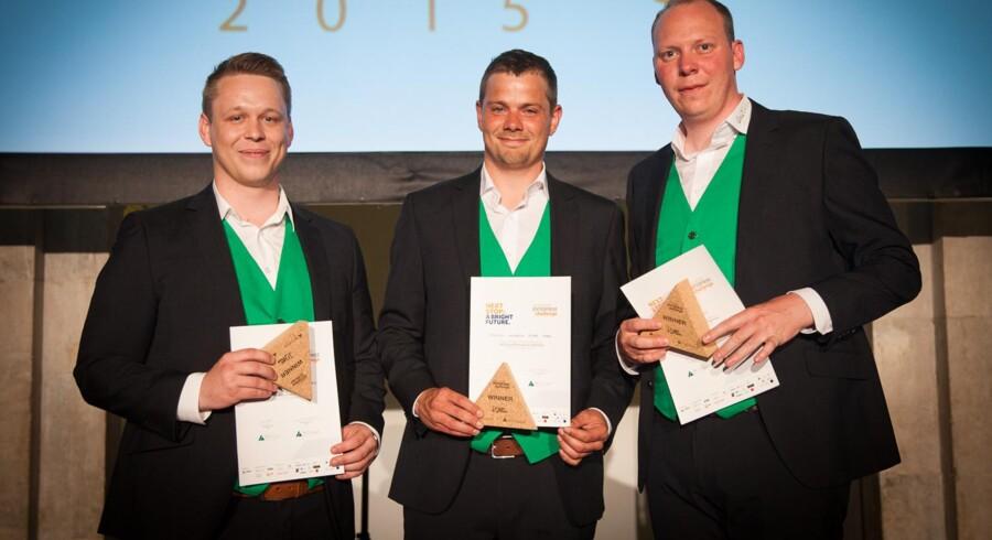 Casper Ryborg Simmelsgaard, Rasmus Andreas Kunø Tarp og Uffe Wilken står bag vinderteamet Gas2Green.
