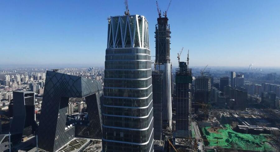 Kina havde i lang årrække en bemærkelsesværdig høj vækst. År efter år udvidede økonomien sig med over ti procent. Arkivfoto.