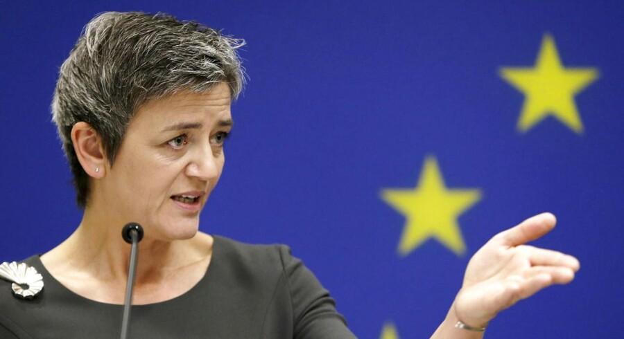 EU-kommissær for konkurrence Margrethe Vestager. REUTERS/Gary Cameron