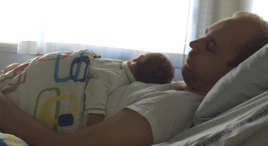 Marc Skriver-Bayer blev i september far til sin søn Benjamin på Rigshospitalet. Foto: Privat