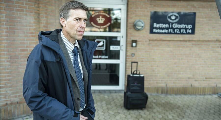 Arkivfoto: ATEA-sagen for retten i Glostrup. Her ses anklager Jørn Thostrup.