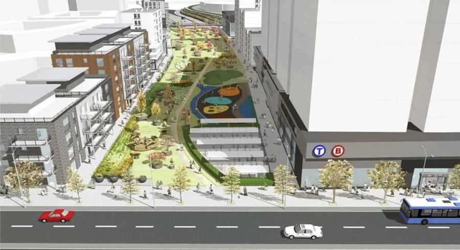 Skitse fra Nacka Kommunes lokalplan for området