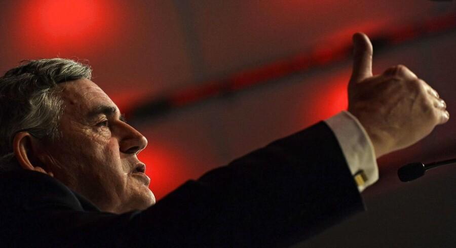 Den tidligere Labour-premierminister Gordon Brown måtte rykke David Cameron til undsætning for at undgå, at skotterne rev sig løs - og nu er der igen bud efter ham for at sikre et »Stay« ved EU-folkeafstemningen. Arkivfoto: Hannah McKay/EPA
