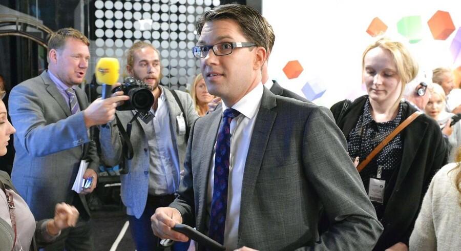 Sverigedemokraternas partiformand, Jimmie Åkesson.