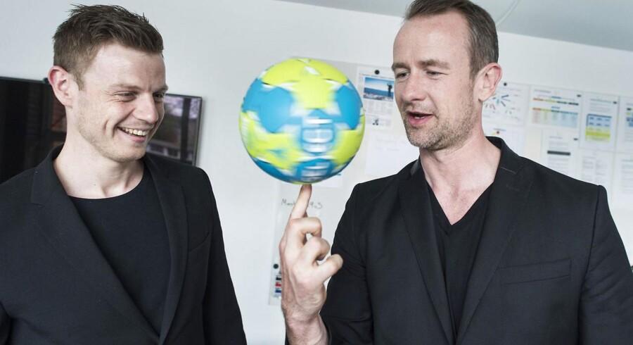 Thomas Pedersen (th) og Søren Nørgård fra virksomheden Team Auction