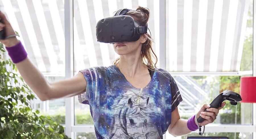 På besøg hos virksomheden VRUnicorns, som producerer Virtual Reality computerspil. Her medstifter Julie Heyde.