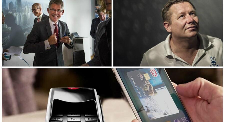 Lars Rebien Sørensen, Jesper Kasi Nielsen og Nets produkter.FOTO: Søren Bidstrup, Ida Marie Odgaard og pressefoto.