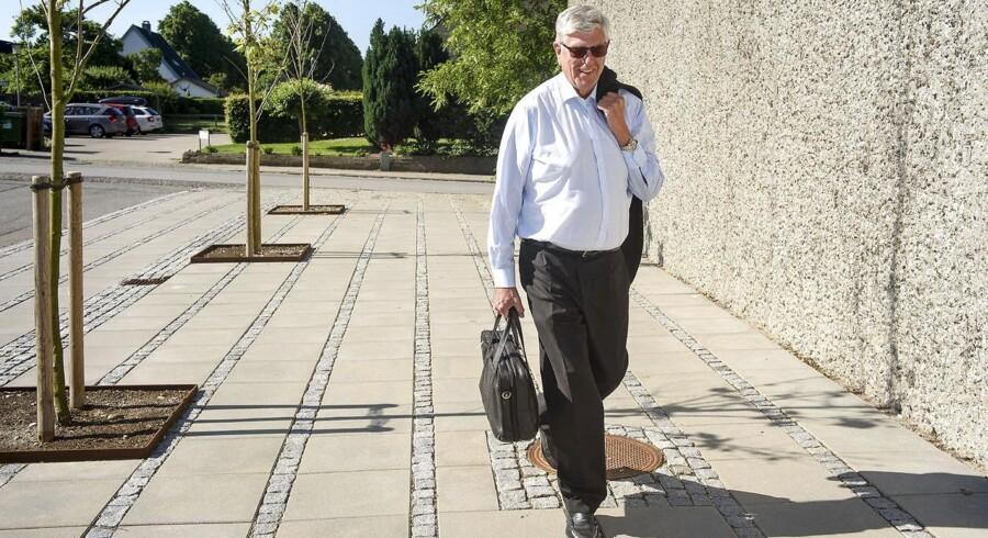 Niels Valentin Hansen, tidligere adm. direktør for den krakkede Roskilde Bank ankommer til Østre Landsrets afdeling i Søborg mandag d. 19 juni 2017. (Foto: Niels Ahlmann Olesen/Scanpix 2017)