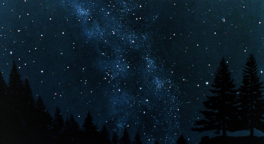 Stjernehimmel bliver decembers lys i den første uge af julemåneden, siger DMI. Arkiv. Scanpix/Tycho Brahe Planetariet