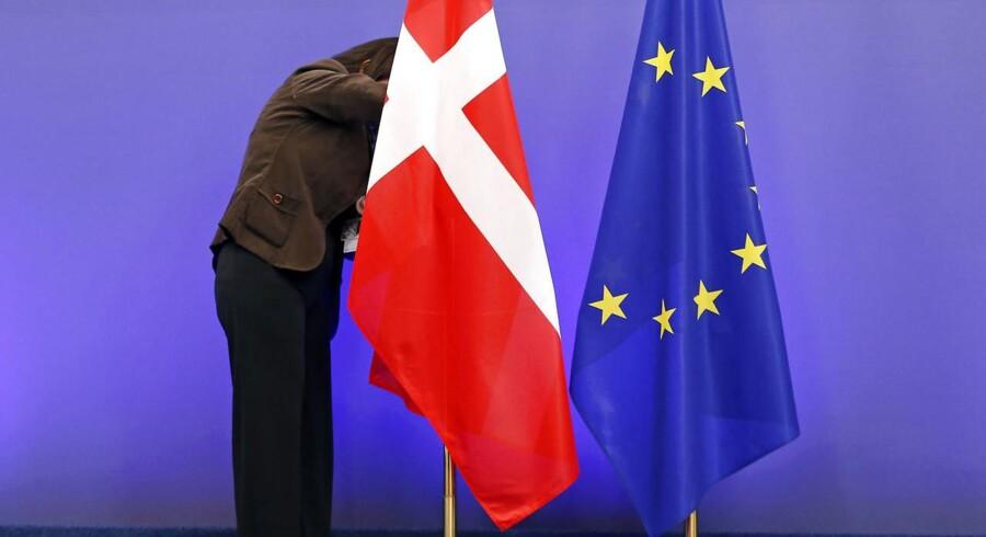To af tre danskere finder EU-medlemskabet godt, viser meningsmåling i EU. Otte af ti ser dansk fordel i EU.