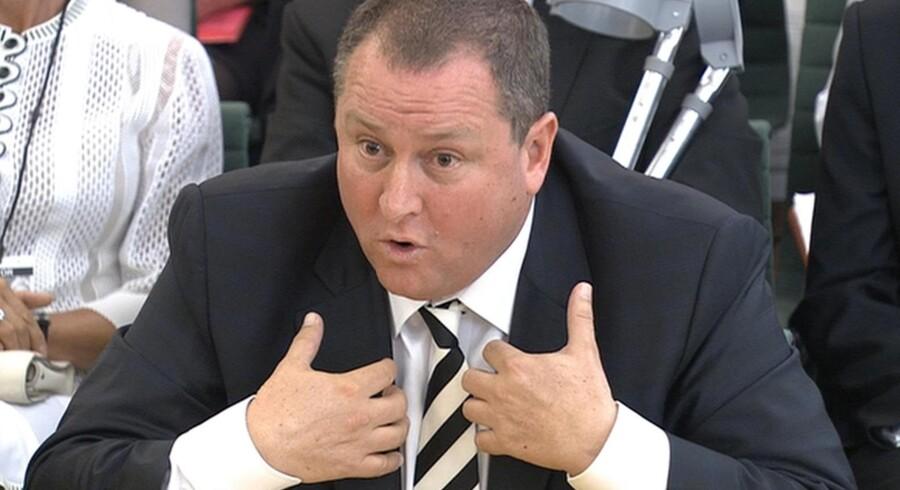 Mike Ashleys hårde linje over for de ansatte bliver nu blødt afhøringen i parlamentskommissionen. Foto: Scanpix