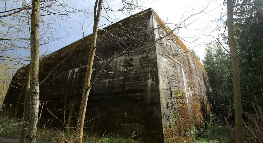 Bunkeren, der ifølge den polske historiker skulle indeholde det sagnomspundne ravkammer.