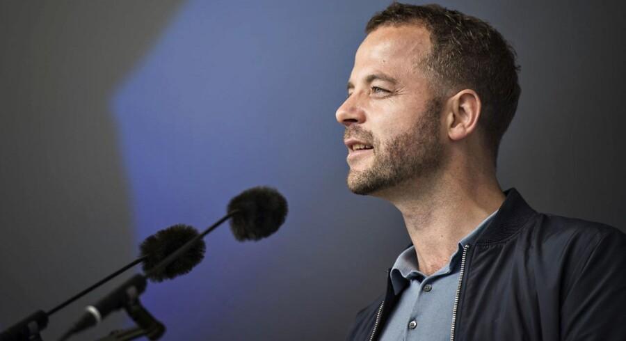 Partileder for Radikale Venstre Morten Østergaard taler på hovedscenen på Folkemødet i Allinge på Bornholm torsdag den 15. juni 2017.. (Foto: Ida Guldbæk Arentsen/Scanpix 2017)