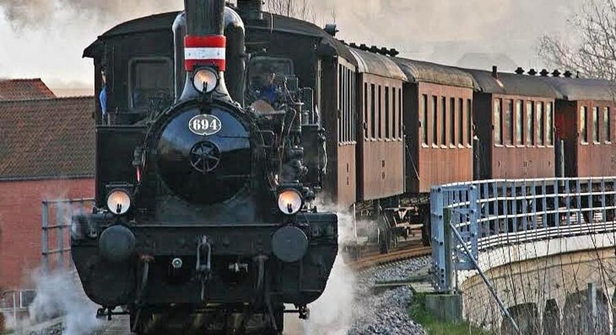 Den gamle By har i sin nye udstilling udstillet dette lokomotiv, der kørte i Aarhus-området. Jernbanen var afgørende for byens udvikling. Foto: PR