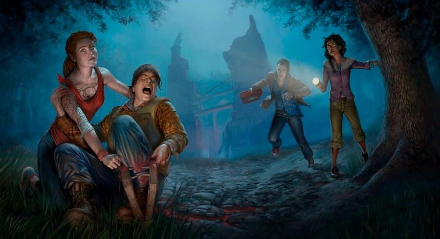 »Dead By Daylight« udkom oprindeligt til PC i sommeren 2016 og blev en stor succes. Nu kan konsolspillerne endelig opleve gyset. Artwork: Behaviour Interactive.
