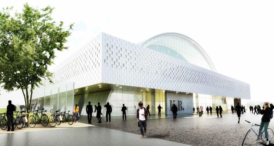 En skitsetegning fra arkitekterne CCO af, hvordan en ny K.B. Hal kan komme til at se ud.