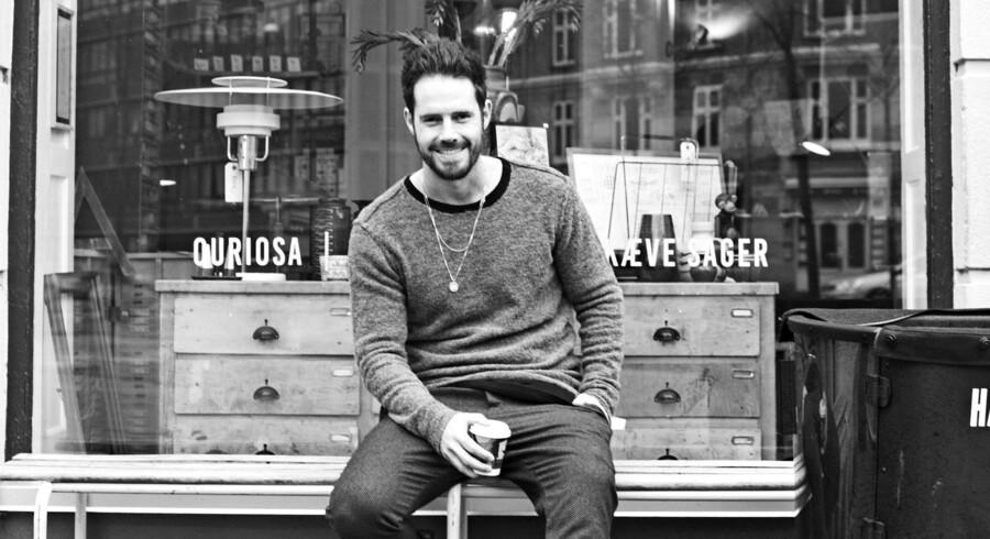 Anders Forup er ret forelsket i snedkerlavede møbler. Foto: PR