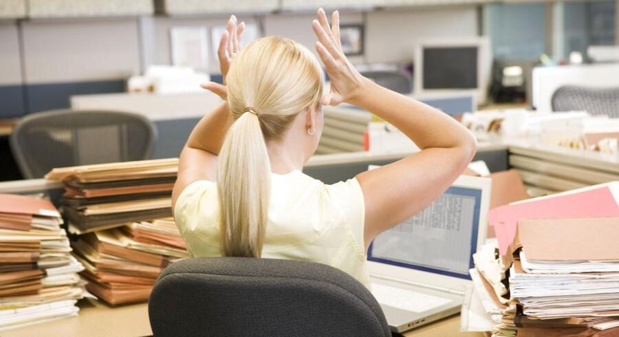 Arkivfoto. Et surt job kan føre til alt lige fra stress og mavepine til depressioner og sygdom. Er du kørt død på dit arbejde, så find ud af, hvordan du retter op på det.