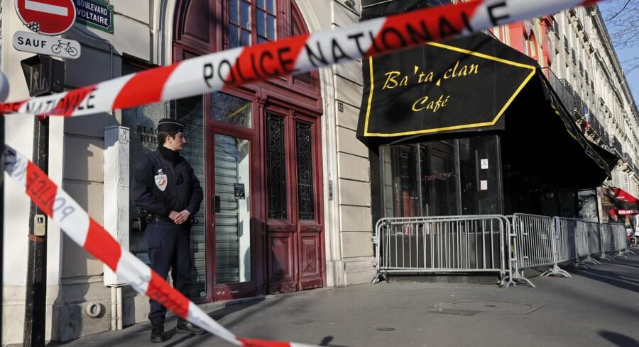 Spillestedet Bataclan var et af de steder, hvor et stort antal mennesker blev dræbt som led i koordinerede angreb i Paris i november 2015. Reuters/Benoit Tessier