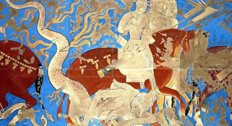 Overdådige udsmykninger på paladser i Centralasien vidner om, hvor indbringende handelen på silkeruterne var.