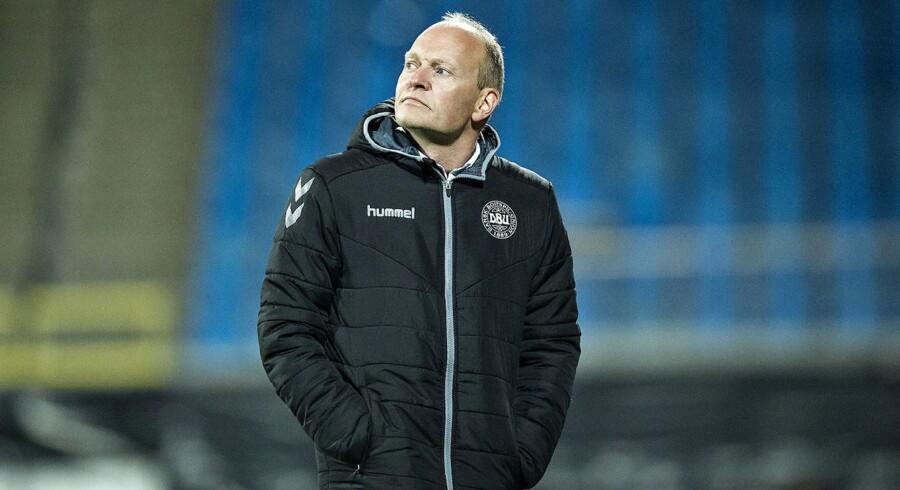 U21 Danmark - Luxembourg, EM kval., Nordjyske Arena, Aalborg, 11.oktober : DKs cheftræner Niels Frederiksen.