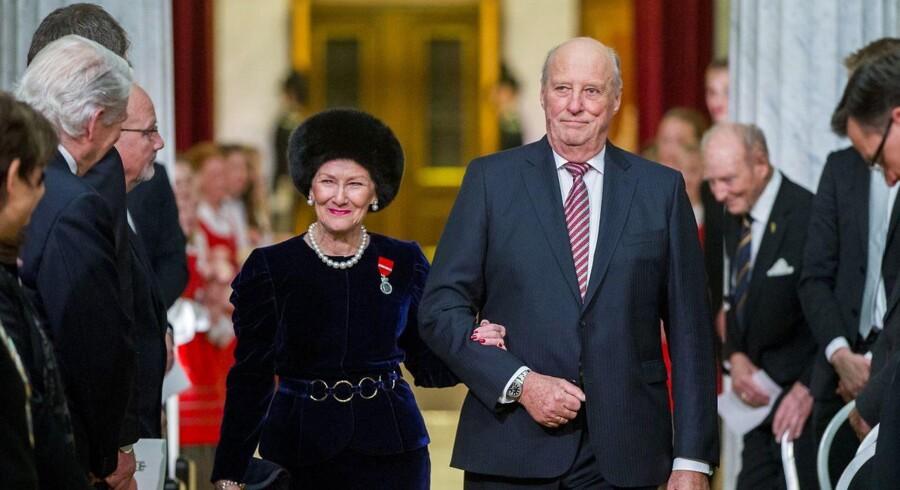 Det norske kongehus oplyser, at kong Harald blev indlagt på hospitalet fredag med en infektion.