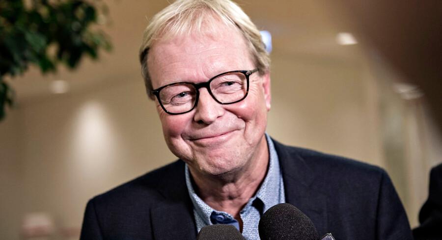 Venstres Ulrik Wilbek orienterede kort før klokken 03 natten til onsdag at han bliver ny borgmester i Viborg efter valgnatten på Viborg Rådhus efter Regions- og Kommunalvalget 2017, tirsdag d. 21. november 2017.