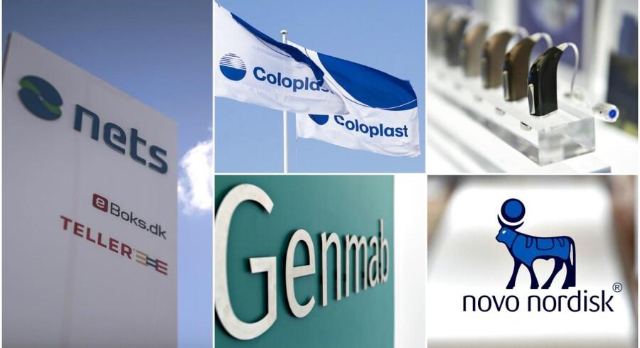 Fire danske selskaber står øverst på aktieanalytikernes rædselsliste for 2016. Novo Nordisk er i runde tal faldet 40 procent, og Novozymes, Coloplast og William Demant følger trop.