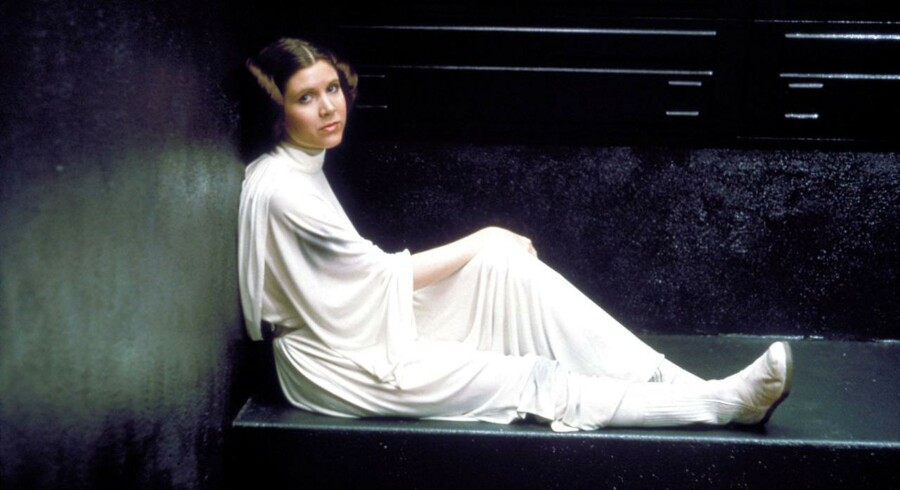 Prinsesse Leia spillet af Carrie Fisher, Star Wars Episode IV - A New Hope.